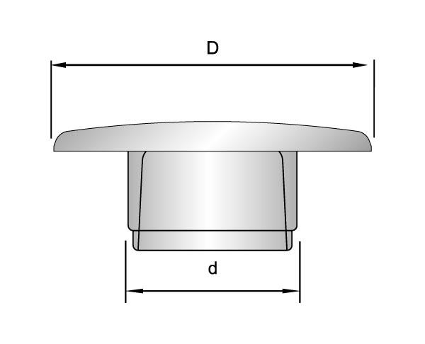 Abdeckkappen für Schrauben mit Innensechskant nach DIN 912 und DIN 7991