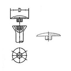 Abdeckkappen für Schrauben mit AW-Antrieb > flach aufliegend