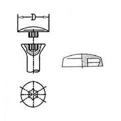 Abdeckkappen für Schrauben mit AW-Antrieb > übergreifender Rand zum Aufclipsen