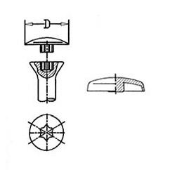 Abdeckkappen für Schrauben mit AW-Antrieb > übergreifender Rand