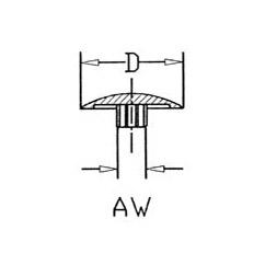 Abdeckkappen für Schrauben mit AW-Antrieb > umlaufender Rand