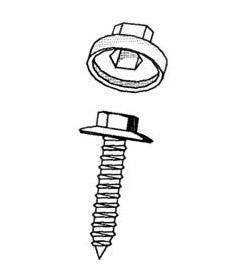Abdeckkappen für Fassadenbauschrauben mit Neoprene-Scheibe