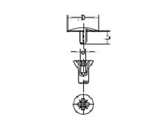 Abdeckkappen für Schrauben mit Pozidrive > Kreuzschlitz und Kopflochbohrung