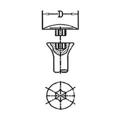 Abdeckkappen für Schrauben mit TORX-Antrieb > flach aufliegend