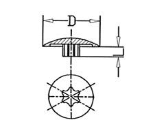 Abdeckkappen für Schrauben mit TORX-Antrieb > übergreifender Rand