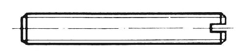 DIN 551 - Gewindestifte mit Schlitz