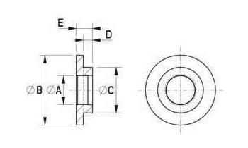 Isolierbuchsen aus Polyamid 6 + 25 % glasfaserverstärkt