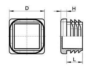 Lamellenstopfen für quadratische Rohre