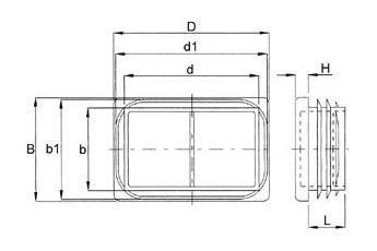 Lamellenstopfen für rechteckige Rohre