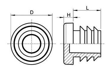 Lamellenstopfen für runde Rohre
