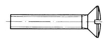 DIN 964 - Linsensenkschrauben mit Schlitz