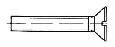 DIN 963 - Senkschrauben mit Schlitz