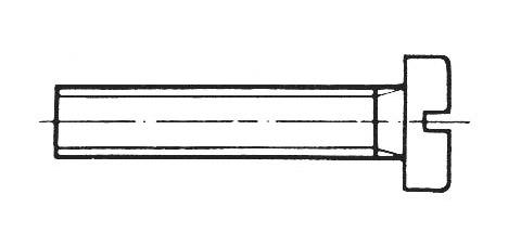 DIN 85 - Flachkopfschrauben mit Schlitz