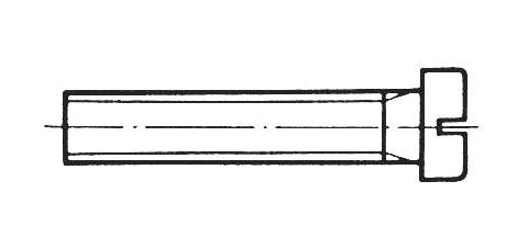 DIN 84 - Zylinderschrauben mit Schlitz